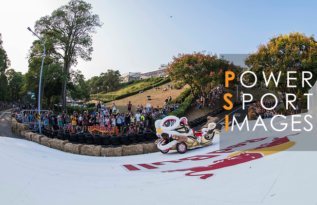 """Team """"逮丸""""偶爸  in action during the Red Bull Soapbox Race 2017 Taipei at Multipurpose Gymnasium National Taiwan Sport University on 01 October 2017, in Taipei, Taiwan. Photo by Victor Fraile / Power Sport Images"""