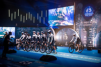 Team Israel Start-Up Nation at the pre race team presentation via TV > with pyrotechnics & all...<br /> <br /> 64th E3 Classic 2021 (1.UWT)<br /> 1 day race from Harelbeke to Harelbeke (BEL/204km)<br /> <br /> ©kramon