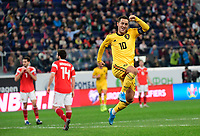 Goal of Eden Hazard midfielder of Belgium  <br /> Saint Petersbourg  - Qualification Euro 2020 - 16/11/2019 <br /> Russia - Belgium <br /> Foto Photonews/Panoramic/Insidefoto <br /> ITALY ONLY