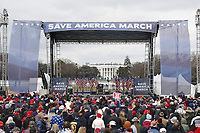 The stage before US President Donald J. Trump delivers remarks to supporters gathered to protest Congress' upcoming certification of Joe Biden as the next president on the Ellipse in Washington, DC, USA, 06 January 2021. Various groups of Trump supporters are gathering to protest as Congress prepares to meet and certify the results of the 2020 US Presidential election.<br /> CAP/MPI/RS<br /> ©RS/MPI/Capital Pictures