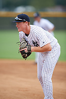 New York Yankees first baseman Eric Wagaman (20) during an Instructional League game against the Pittsburgh Pirates on September 29, 2017 at the Yankees Minor League Complex in Tampa, Florida.  (Mike Janes/Four Seam Images)