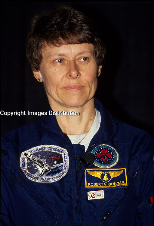 Montreal (Qc) CANADA, 1992 File Photo -<br /> <br /> Canadian Astronaut Dr. Roberta Bondar.<br /> <br /> The world's first female Canadian astronaut and neurologist in space, Dr. Roberta Bondar is globally recognized for her contributions to space medicine. She continued her discoveries for more than a decade, finding new connections between recovering from new environments and neurological illnesses such as stroke and Parkinson's disease.<br /> <br /> photo : (c) images Distribution
