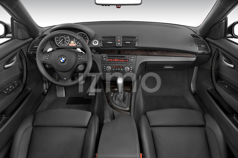 Straight dashboard view of a 2007 - 2011 BMW 1-Series 135i convertible.