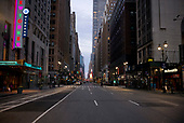 April 12, 2020<br /> New York, New York<br /> <br /> Looking uptown from 34th Street at dusk during the height of the coronavirus pandemic. More than 10,000 deaths reported throughout the state.