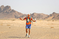 5th October 2021; Kourci Dial Zaid to Jebel El Mraier ; Guy Hayward (gbr) Marathon des Sables, stage 3 of  a six-day, 251 km ultramarathon, which is approximately the distance of six regular marathons. The longest single stage is 91 km long. This multiday race is held every year in southern Morocco, in the Sahara Desert.