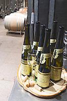 bottles in the cellar dom faller weinbach kaysersberg alsace france