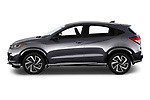 Car driver side profile view of a 2019 Honda HR-V Sport 5 Door SUV