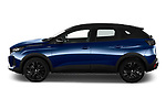 Car Driver side profile view of a 2021 Peugeot 3008 GT-Pack 5 Door SUV Side View