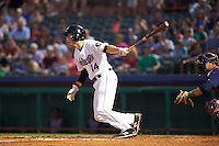 Tri-City ValleyCats third baseman Bobby Wernes (14) at bat during a game against the Brooklyn Cyclones on September 1, 2015 at Joseph L. Bruno Stadium in Troy, New York.  Tri-City defeated Brooklyn 5-4.  (Mike Janes/Four Seam Images)