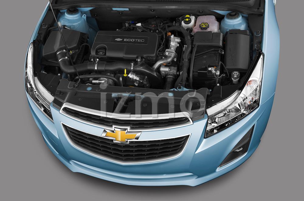 High angle engine detail of a 2013 Chevrolet Cruze SW LTZ wagon
