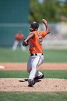 Baltimore Orioles pitcher Jose Diaz (87) during a Minor League Spring Training game against the Boston Red Sox on March 17, 2018 at the jetBlue Park Complex in Fort Myers, Florida.  (Mike Janes/Four Seam Images)