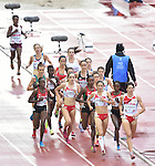 Wales' Elinor Kirk competes in the women's 5,000m final<br /> <br /> Photographer Chris Vaughan/CameraSport<br /> <br /> 20th Commonwealth Games - Day 10 - Saturday 2nd August 2014 - Athletics - Hampden Park - Glasgow - UK