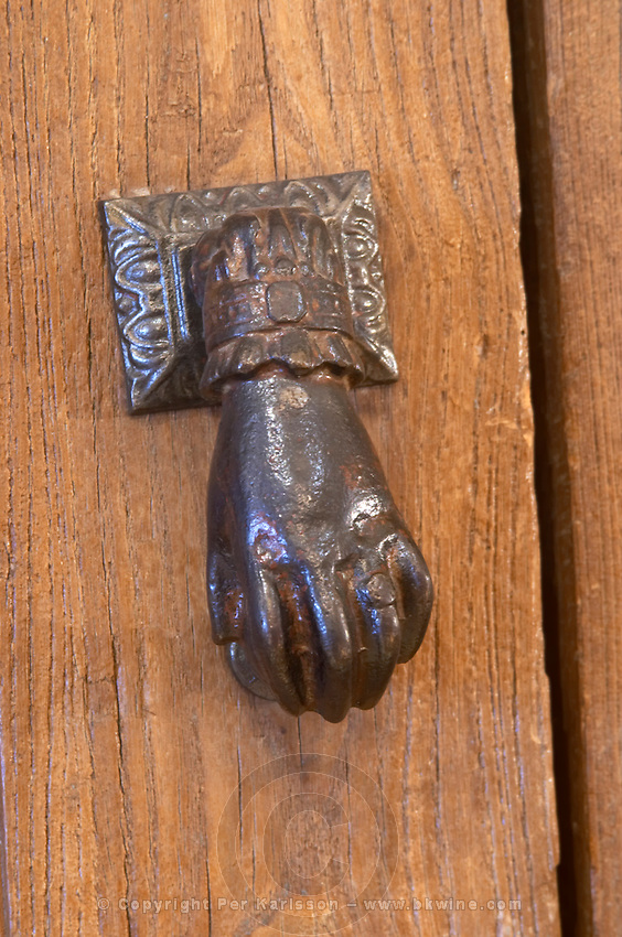 door knocker chateau haut brion pessac leognan graves bordeaux france