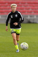 Chicago, IL - Sunday Sept. 04, 2016: Megan Rapinoe prior to a regular season National Women's Soccer League (NWSL) match between the Chicago Red Stars and Seattle Reign FC at Toyota Park.