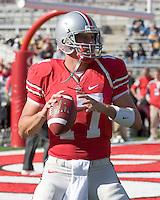 13 October 2007: Ohio State quarterback Todd Boeckman..The Ohio State Buckeyes defeated the Kent State Golden Flashes 48-3 on  October 13, 2007 at Ohio Stadium, Columbus, Ohio.