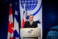 Philippe Couillard,<br /> Premier of the Province of Quebec <br /> attend the International Economic Forum of the Americas 20th Edition, from June 9-12, 2014 <br /> <br />  Photo : Agence Quebec Presse - Philippe Nguyen