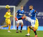25.10.2020 Rangers v Livingston: Kemar Roofe controls the ball