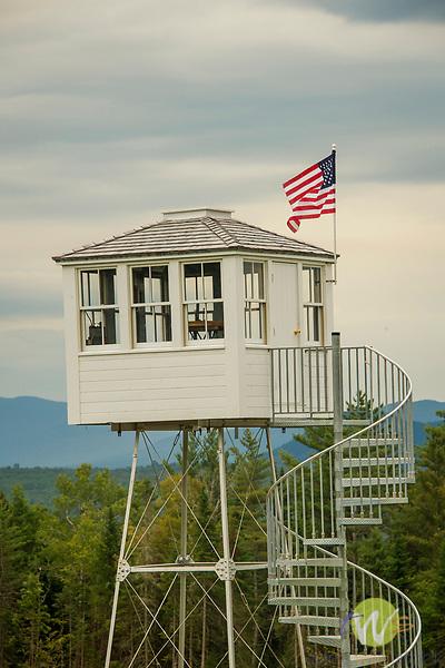 Historic observation tower. Visitors bureau. Greenville, ME.