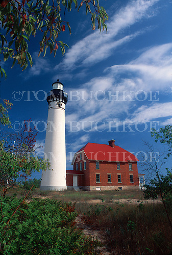 Au Sable lighthouse in the Pictured Rocks National Lakeshore on Lake Superior, in the Upper Peninsula of Michigan.