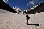Photographer, Cathy Beck, photographs Byron Glacier in Portage, AK.