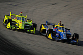 #27: Alexander Rossi, Andretti Autosport Honda, #22: Simon Pagenaud, Team Penske Chevrolet