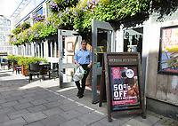 "Pub Restaurants which have declared themselves as participating in the UK government's ""Eat Out to Help Out Scheme"". Diners receive a 50% discount, up to £10 each, on food or non-alcoholic drinks every Monday, Tuesday and Wednesday during August. <br /> The scheme is to help boost the ailing hospitality industry which has been hard hit during the worldwide coronavirus pandemic. August 4th 2020<br /> <br /> Photo by Keith Mayhew"