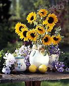 Interlitho, FLOWERS, BLUMEN, FLORES, photos+++++,sunflowers,table,KL16413,#f#
