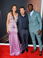 "LOS ANGELES, CA: 24, 2020: Storm Reid, Leigh Whannell & Aldis Hodge at the premiere of ""The Invisible Man"" at the TCL Chinese Theatre.<br /> Picture: Paul Smith/Featureflash"