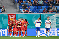 ST PETERSBURG, RUSSIA - JUNE 12 :  Romelu Lukaku forward of Belgium celebrates scoring the opening goal pictured during the 16th UEFA Euro 2020 Championship Group B match between Belgium and Russia on June 12, 2021 in St Petersburg, Russia, 12/06/2021 <br /> Photo Photonews / Panoramic / Insidefoto <br /> ITALY ONLY