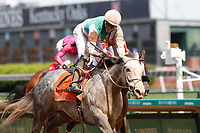 30th April 2021; Kentucky, USA;   Jockey  Jose L. Ortiz rides Obligatory (7) and wins race 9, The Eight Belles during Oaks Day on April 30th, 2021 at Church Hill Downs in Louisville, KT.