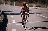 Lars Bak (DEN/Lotto-Soudal) counter-attacking<br /> <br /> 76th Paris-Nice 2018<br /> stage 6: Sisteron > Vence (198km)