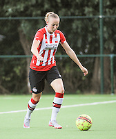 20160824 - GENT , BELGIUM : PSV Eindhoven's Lucie Akkerman  pictured during a friendly game between KAA Gent Ladies and PSV Eindhoven during the preparations for the 2016-2017 season , Wednesday 24 August 2016 ,  PHOTO Dirk Vuylsteke   Sportpix.Be