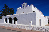 Wehrkirche in Sant Jordi de ses Salines, Ibiza, Balearen, Spanien