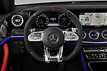 Car pictures of steering wheel view of a 2019 Mercedes Benz E-Class AMG-E53 2 Door Coupe Steering Wheel
