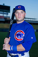 AZL Cubs Cam Balego (82) poses for a photo before a game against the AZL Angels on August 31, 2017 at Sloan Park in Mesa, Arizona. AZL Cubs defeated the AZL Angels 9-2. (Zachary Lucy/Four Seam Images)
