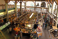 market, Portland, ME, Maine, Interior of Portland Public Market in downtown Portland.