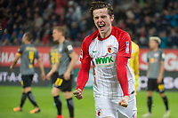 19.09.2017, Football 1.Bundesliga 2017/2018, 5. match day, FC Augsburg - RB Leipzig, in WWK-Arena Augsburg. Michael Gregoritsch (FC Augsburg) . *** Local Caption *** © pixathlon<br /> <br /> +++ NED + SUI out !!! +++<br /> Contact: +49-40-22 63 02 60 , info@pixathlon.de