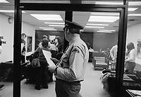 Le Premier Ministre Robert Bourassa recoit les medias a son bureau montrealais (Hydro Quebec) , <br /> le 26 Janviier 1973.<br /> <br /> PHOTO : Agence Quebec Presse - Alain Renaud