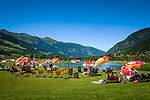 Oesterreich, Salzburger Land, Pongau, Gasteiner Tal, Bad Gastein: Gasteiner Badesee | Austria, Salzburger Land, region Pongau, Gastein Valley, Bad Gastein: Gastein swimming lake