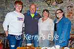 John Leahy from Tralee celebrating his birthday with his family in Benners on Saturday. L to r: Josh, John and Denise Leahy and Sarah Redmond