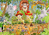 Alfredo, CUTE ANIMALS, puzzle, paintings(BRTO27060,#AC#) illustrations, pinturas, rompe cabeza