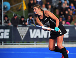 NZ's Olivia Merry shoots from a penalty corner during the Sentinel Homes Trans Tasman Series hockey match between the New Zealand Black Sticks Women and the Australian Hockeyroos at Massey University Hockey Turf in Palmerston North, New Zealand on Sunday, 30 May 2021. Photo: Dave Lintott / lintottphoto.co.nz