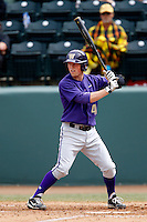 Andrew Ely #41 of the Washington Huskies bats against the UCLA Bruins at Jackie Robinson Stadium on March 17, 2013 in Los Angeles, California. (Larry Goren/Four Seam Images)
