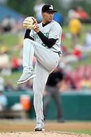 Clinton LumberKings pitcher Taijuan Walker (26) during a game against the Kane County Cougars at Elfstrom Stadium on June 17, 2011 in Geneva, Illinois.  Kane County defeated Clinton 1-0.  (Chris Proctor/Four Seam Images)