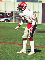 Alton Alexis Calgary Stampeders 1982. Photo F. Scott Grant