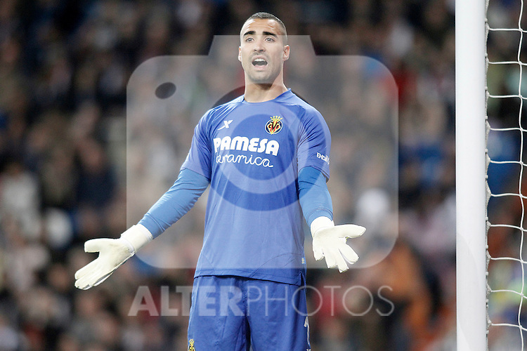 Villareal's Sergio Asenjo during La Liga match. April 20,2016. (ALTERPHOTOS/Acero)
