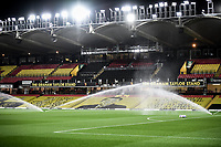 4th November 2020; Vicarage Road, Watford, Hertfordshire, England; English Football League Championship Football, Watford versus Stoke City; A general view of the Vicarage Road stadium ahead of Kick Off.