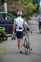 Injured Trust House rider Paul Duyhoven. UCI Oceania Tour - NZ Cycle Classic stage two - Masterton to Martinborough circuit in Wairarapa, New Zealand on Thursday, 21 January 2016. Photo: Dave Lintott / lintottphoto.co.nz