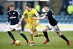 Dundee v St Johnstone…10.03.18…  Dens Park    SPFL<br />Blair Alston gets between Simon Murray and Jordan Piggott<br />Picture by Graeme Hart. <br />Copyright Perthshire Picture Agency<br />Tel: 01738 623350  Mobile: 07990 594431