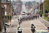 actual race start<br /> <br /> 85th La Flèche Wallonne 2021 (1.UWT)<br /> 1 day race from Charleroi to the Mur de Huy (BEL): 194km<br /> <br /> ©kramon